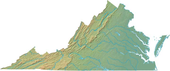 virginia relief map